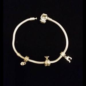 "Pandora 925 Sterling Silver Bracelet 8"""
